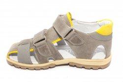 Sandale copii  - Sandale baieti hokide picior lat 357 gri galben 28-32