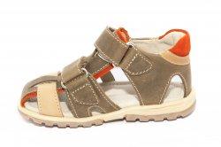 Sandale copii  - Sandale baieti hokide picior lat 357 maro 22-32