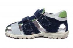 Sandale copii  - Sandale baieti hokide picior lat gros 357 blu gri v 26-32