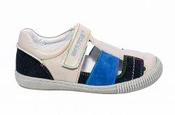 Sandale copii  - Sandale baieti piele naturala hokide 422 bej albastru 26-30