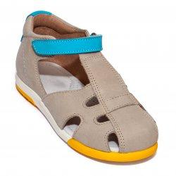 Sandale copii  - Sandale copii avus piele 741 bej turcoaz 19-30