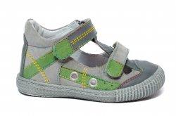 Sandale copii  - Sandale copii flexibile hokide 386 gri verde 18-25