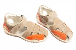 Sandale copii  - Sandale baieti hokide 109 bej port