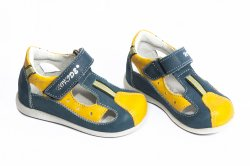 Sandale copii  - Sandale copii hokide 139 albastru galben 19-30