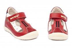 Sandale copii  - Sandale copii hokide 139 rosu bej 18-25