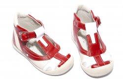 Sandale copii  - Sandale copii hokide 306 rosu alb