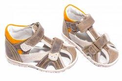 Sandale copii  - Sandale copii hokide 311 maro port