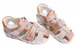 Sandale copii  - Sandale copii hokide 357 maro bej