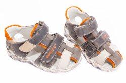 Sandale copii  - Sandale copii hokide 357 maro port