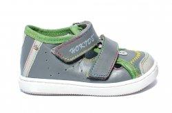 Sandale copii  - Sandale copii hokide picior lat 233 gri verde 18-25