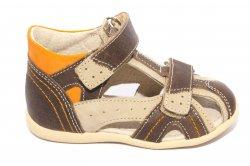 Sandale copii  - Sandale copii hokide picior lat 311 maro 18-24