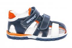 Sandale copii  - Sandale copii hokide picior lat 357 blu portocaliu 22-32