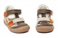 Sandale copii  - Sandale copii hokide picior lat 386 maro port 18-25