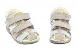 Sandale copii  - Sandale copii picior lat hokide 357 gri galben 22-27