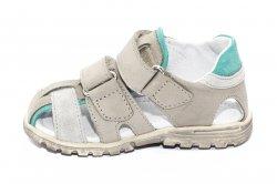 Sandale copii  - Sandale copii picior lat hokide 357 gri verde 22-27