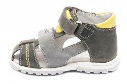 Sandale copii  - Sandale copii picior lat hokide 405 gri galben 18-27