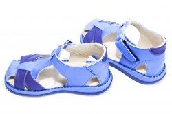 Sandale copii  - Sandale copii piele 346 gri blumarin