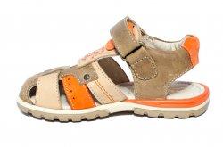 Sandale copii  - Sandale copii piele hokide 407 maro port 26-32