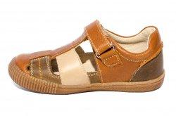 Sandale copii  - Sandale copii piele hokide 422 maro 26-30
