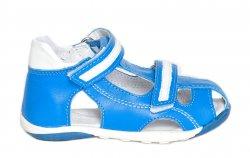 Sandale copii  - Sandale copii pj shoes Mario albastru alb