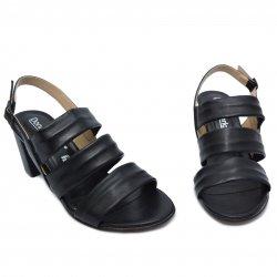 Sandale dama  - Sandale dama cu toc piele 1700 negru 35-41