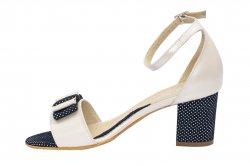 Sandale dama  - Sandale dama piele naturala 860 bej blu pipit 34-40