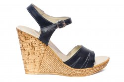 Sandale dama  - Sandale dama platforma piele Tisa 387 blu 35-40