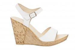 Sandale dama  - Sandale dama platforma piele naturala Tisa 387 alb 34-40