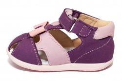 Sandale copii  - Sandale fete avus din piele AV36 mov roz 17-26