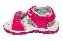 Sandale copii  - Sandale fete cu brant din piele 1613 fuxia 22-35