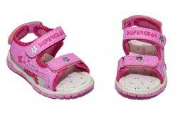 Sandale copii  - Sandale fete cu brant din piele 1613 pink 22-35