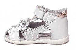 Sandale copii  - Sandale fete hokide picior lat 405 alb 18-25