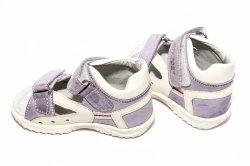 Sandale copii  - Sandale fete hokide piele 276 mov alb