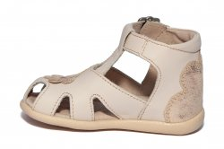 Sandale copii  - Sandale fete inalte pe glezna hokide 77 crem 18-24