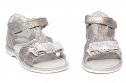 Sandale copii  - Sandale fete pj shoes piele Eva argintiu 20-26