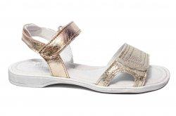 Sandale copii  - Sandale fete pj shoes piele Ana auriu 26-36