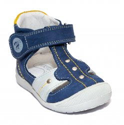 Sandale copii  - Sandale ortopedice copii 273 albastru galben gri 18-24