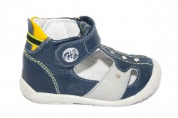 Sandale copii  - Sandale ortopedice copii 273 blu gri galben 18-24