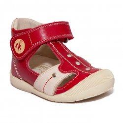Sandale copii  - Sandale ortopedice copii hokide 273 rosu bej 18-24