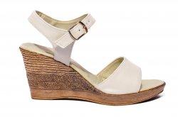 Sandale dama  - Sandale platforma dama 8cm Oana bej 34-40