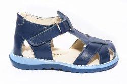 Sandale copii  - Sandalute baietei piele 346 blu 18-25