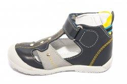 Sandale copii  - Sandalute baieti hokide 273 albastru gri galben 18-24
