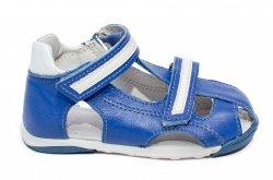 Sandale copii  - Sandalute baieti piele pj shoes Mario albastru 18-26