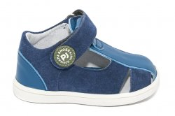 Sandale copii  - Sandalute baieti piele pj shoes Pablo blumarin 18-26