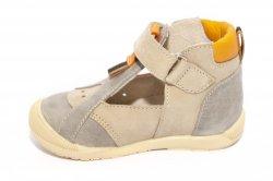 Sandale copii  - Sandalute copii hokide 305 bej gri 18-24