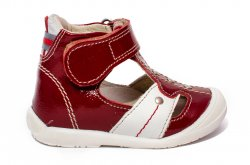 Sandale copii  - Sandalute copii ortopedice hokide 273 bordo lac 18-24