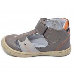 Sandale copii  - Sandalute copii ortopedice hokide 273 gri portocaliu 18-24