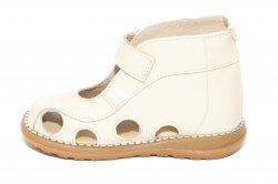Sandale copii  - Sandalute copii picior lat gros pufos 550 bej arici 18-25