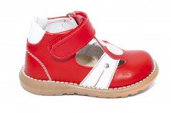 Sandale copii  - Sandalute copii piele 1323 rosu alb 18-25