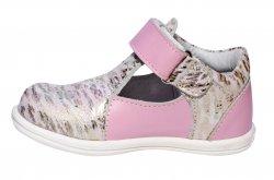 Sandale copii  - Sandalute fete pj shoes Pablo roz print 18-26